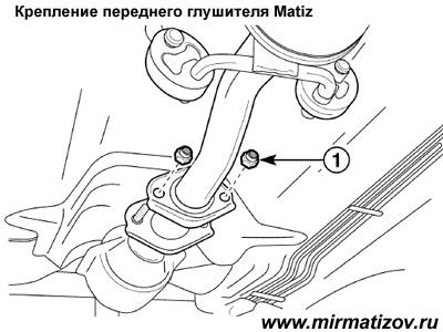 Передний глушитель Матиз